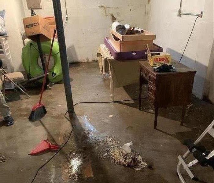 water damage equipment in a home