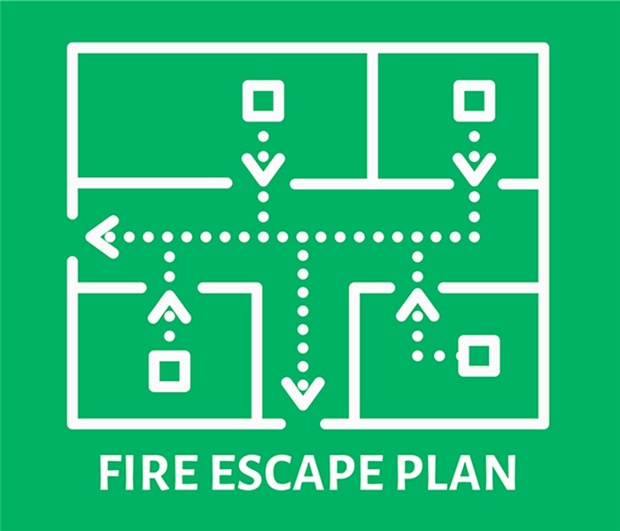 Map of a house and escape routes